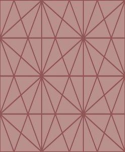Papel de Parede Cubic-Rosa Geométrico Estelar - CU87434