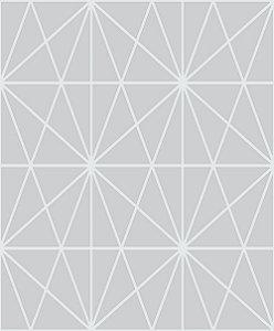 Papel de Parede Cubic-Grafite Geométrico Estelar - CU87433