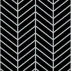 Papel de Parede Cubic-Chevron Preto - CU87429