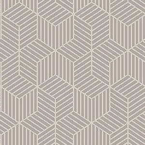 Papel de Parede Cubic- Geométrico Comeia Chumbo - CU87419