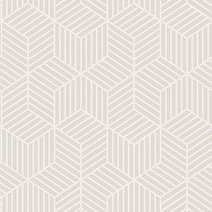 Papel de Parede Cubic- Geométrico Comeia Bege - CU87416