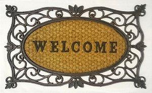 Capacho fibra de coco, antiderrapante 45x75 cm Welcome I