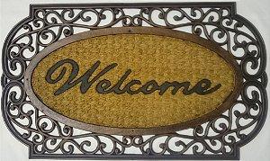 Capacho fibra de coco, antiderrapante 45x75 cm Welcome III