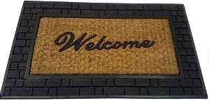 Capacho fibra de coco, antiderrapante 45x75 cm Welcome IV
