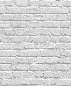 Papel de Parede Branco Tijolos - L83109