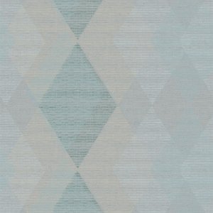 Papel De Parede Winster - Losango  Azul e Bege - IH-20052