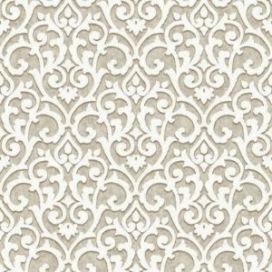 Papel de parede Florence - Arabesco Bege - FR87222