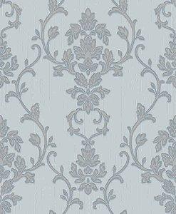 Papel de parede Florence -Flor Arabesco - Acqua e Azul Serenity - FR87245