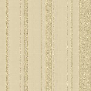 Papel De Parede Listrado Marfim E Dourado- HD1865