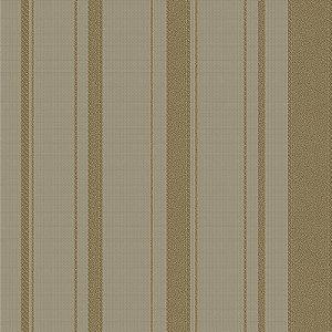 Papel De Parede Listrado Marrom E Dourado- HD1866