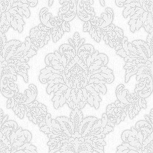 Papel De Parede Brasão Arabesco Areia e Off White - HD1874