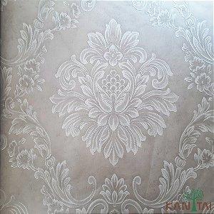Papel de Parede Grace Brasão Arabesco Off White - 3G201502R
