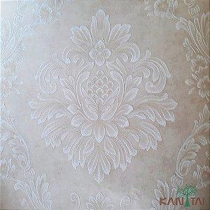 Papel de Parede Grace Brasão Arabesco Marfim - 3G201503R