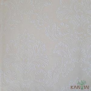 Papel de Parede Grace Brasão Arabesco Branco E Marfim - 3G201505R