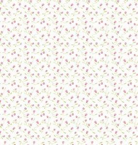 Papel de parede Nido Infantil 8706-1 flores vermelho