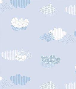Papel de parede Nido Infantil 8705-1 Nuvens Azul