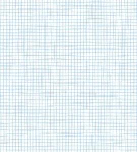 Papel de parede Nido Infantil 8702-1 Xadrez Azul Claro