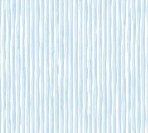 Papel de parede Nido Infantil 8707-1 Listrado Azul Claro
