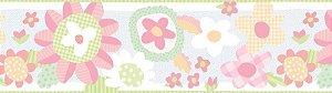 Papel de parede Borda Nido Infantil 8750-1 Flores Coloridas