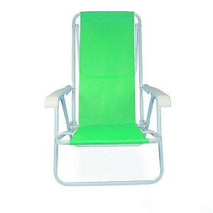 Cadeira De Praia Reclinável 8 Posições Verde 2259