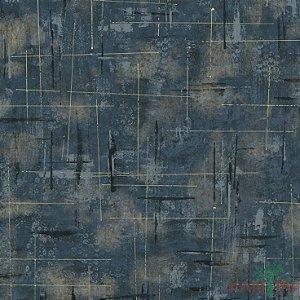 Papel de Parede Vision Azul com Bege Mesclado - VI800907R
