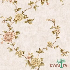 Papel de Parede Golden House 2 - Rosas, Rose - GH261403R