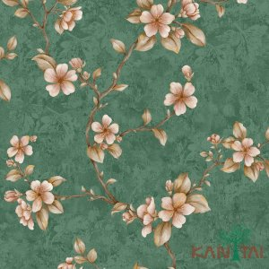 Papel de Parede Golden House 2 - Verde Bandeira - GH261904R
