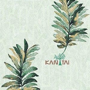 Papel de Parede Golden House 2 Folhas - Verde - GH262103R