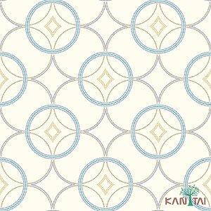Papel de Parede Oba, Estrela e Circulo, Azul, Roxo e Bege - OB71501R