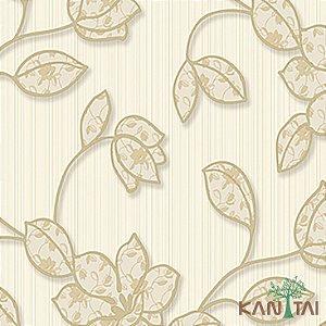 Papel de Parede Element 3 Floral Bege Fundo Creme - 3E303102R