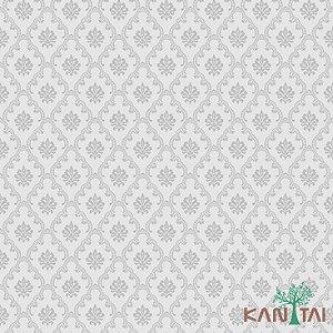 Papel de Parede Element 3 Cinza Jacquard Prata - 3E303802R