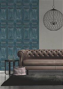 Papel de parede Porta Ornamental Azul Replik J922-11