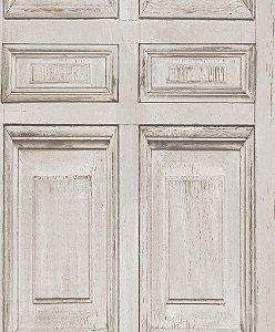 Papel de parede Porta Ornamental Bege Cimento J922-07