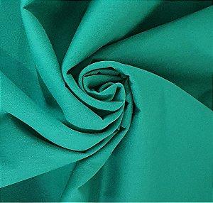 Tecido Tricoline Verde Bandeira liso 100% Algodão com 1,50 metros de largura - 1671