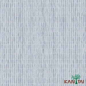 Papel de Parede Milan Aspecto Rede Branco Traços Azul e Marinho - ML981202R