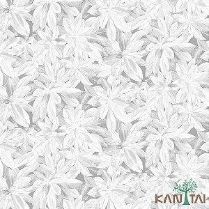 Papel de Parede Milan 2 Floral Cinza e Branco - ML982101R