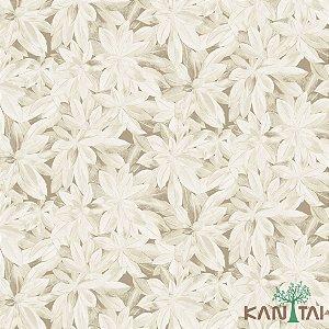 Papel de Parede Milan 2 Floral Cinza e Bege - ML982102R