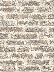 Papel de parede Tijolos a Vista Branco e Cinza - J179-07