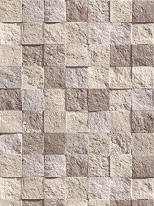 Papel de parede Pedras em Cinza, Creme e Marrom Claro - J860-08