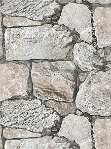 Papel de parede Pedras grandes em Grafite e Cinza - J955-09