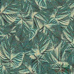 Papel de Parede Milan Folhas sobre Folhas Verde - ML982802R