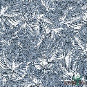 Papel de Parede Milan Folhas sobre Folhas Azul Noturno - ML982803R