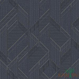 Papel de Parede Forma Geométrica Azul Noturno, Cinza e chumbo - ML983503R