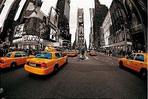 Painel fotográfico Taxi New York  Importado e Vinílico com 3,15 metros x 2,32 metros