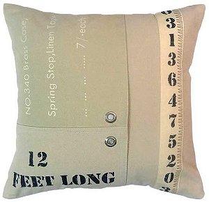 Capa para almofada Feet Long  40 x 40 cm, 100% Algodão