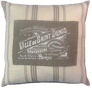 Capa para almofada Ville Saint Denis  40 x 40 cm, 100% Algodão