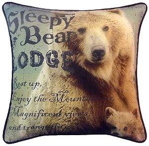Capa para almofada Sleep Bear  40 x 40 cm, 100% Algodão