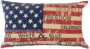 Capa para almofada USA Freedom  50 x 30 cm, 100% Algodão