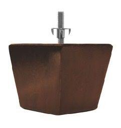 Pé para sofá de madeira Marrom 6 cm de altura, M62