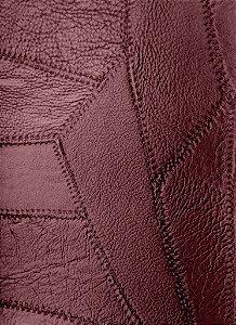 Tecido courvin costurado Vermelho Bordo Escuro - 08